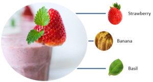 Strawberry Banana Basil Smoothie